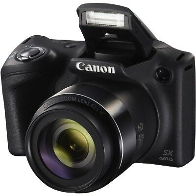 Canon PowerShot SX420 IS 20MP 42x Super Zoom HD 720p Video Digital Camera -Black