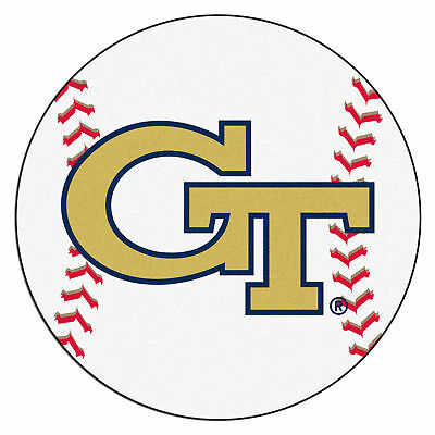 Fanmats NCAA Georgia Tech Yellow Jackets Nylon Face Baseball Rug - Fanmats Georgia Rug