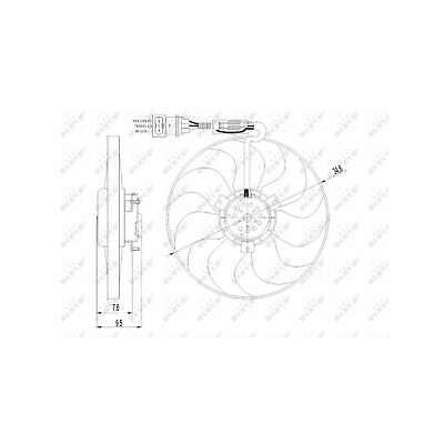 Genuine NRF Engine Cooling Radiator Fan - 47064