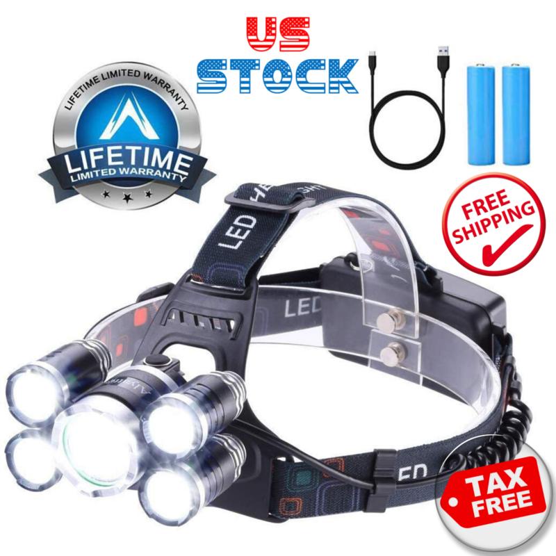 Headlamp 12000 Lumen Ultra Bright Cree Led Work Headlight Mi