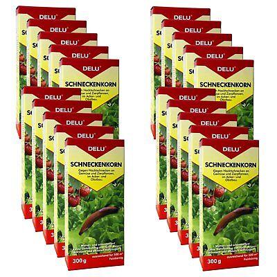 20x 300 g DELU Schneckenkorn - Nacktschnecken Bekämpfung Schnecken Schneckengift