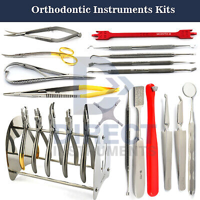 Dental Orthodontic Instruments Kit Band Placement Separator Bracket Ligature Set