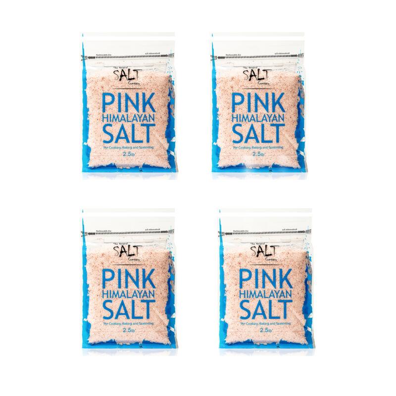 The Original Salt Company Fine Pink Himalayan Cooking Season Salt (4 Pack)