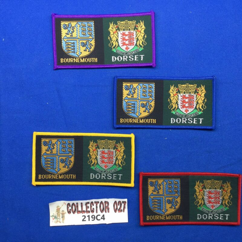 Boy Scout 4 British Bournemouth Dorset District Patches
