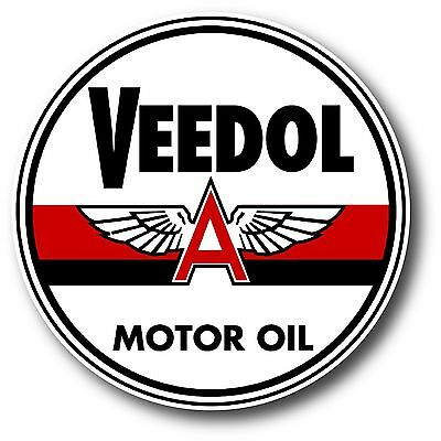 SUPER HIGH GLOSS OUTDOOR 4 INCH VEEDOL MOTOR OIL DECAL STICKER