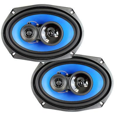 2  Q Power 6X9  700 Watt 3 Way Car Audio Stereo Coaxial Speakers Pair   Qp693