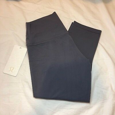 """NWT Lululemon Align Crop Pants 21"""" DARK SHADOW Nulu Fabric High Rise SOLD OUT"""