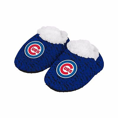 Chicago Cubs POLY KNIT Infant Newborn Baby Booties Slippers Shower New Gift