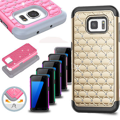 For Samsung Galaxy S6 / S6 Edge Luxury Bling Shockproof Hybrid Rugged Case