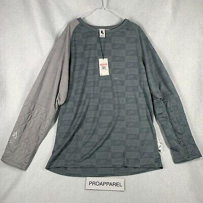 Nike x A-Cold-Wall ACW Mens Long Sleeve Shirt Cool Grey AQ0433-065 NWT Sz L