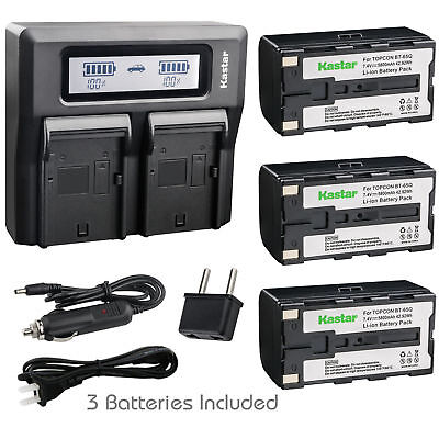Bt65q Battery Lcd Dual Charger For Topcon Gpt-7500 Gts-900 Gpt-9000a Robotic