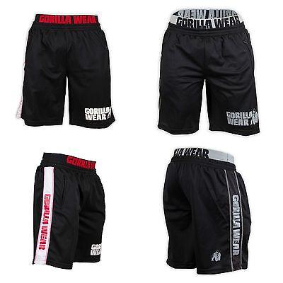 Schwarz Mesh Shorts (Gorilla Wear California Mesh Shorts Fitness Bodybuilding schwarz black)