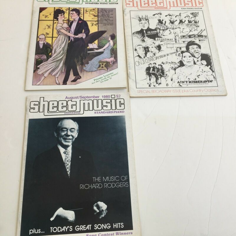 Sheet Music Magazines Introductory Issue & August thru November Issues for 1980