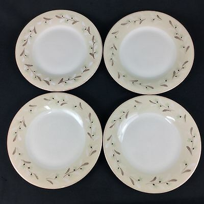 "Crate & Barrel Heather FOUR 10 1/2""  Dinner Plates Tan Cream Gray Portugal"