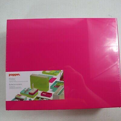 Poppin Pink Plastic File Box