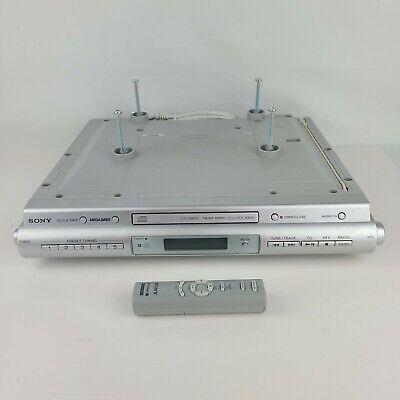 Sony ICFCDK50 Clock Radio CD Player Under Cabinet Kitchen RV Camper + OEM Remote