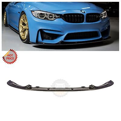 BMW F80 M3 F82 M4 3D STYLE REAL CARBON FIBER FRONT LIP SPOILER *USA SELLER!*