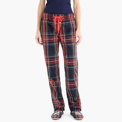 - J. Crew #K4258 Vintage Stewart Plaid Pajama Lounge Pants Cotton Poplin NWT Med
