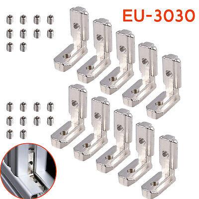 10x 3030 T Slot L-shape Aluminum Profile Interior Corner Connector Bracket 90