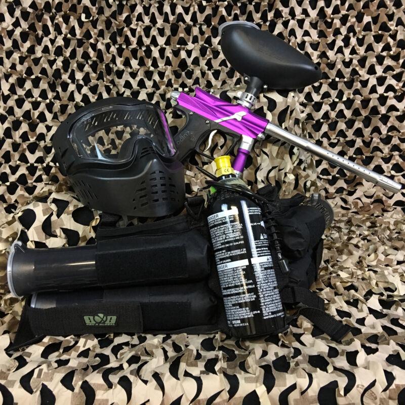 NEW Azodin Blitz 3 EPIC Paintball Marker Gun Package Kit - Purple/Silver