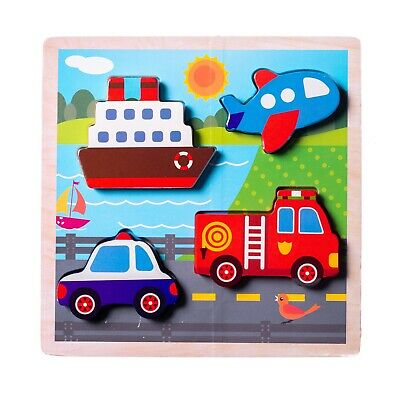 Eliiti Wooden Chunky Puzzles for Toddlers Boys Kids 2 to 4 Y