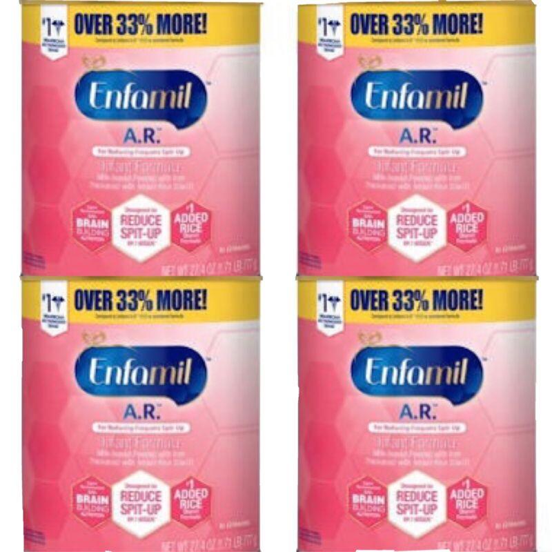 (4) Cans of Enfamil A.R. Infant Formula 27.4 oz each