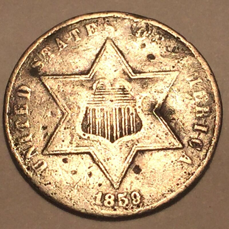 1859 Three Cent Silver * See photo