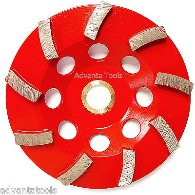 4.5 Spiral Turbo Concrete Diamond Grinding Cup Wheel 9 Segs 78-58 Arbor