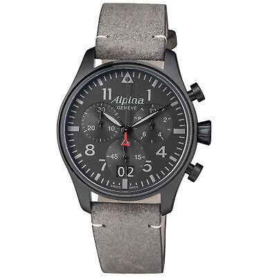 Alpina Startimer Pilot Shadow Quartz Black Dial Men's Watch AL372BB4FBS26