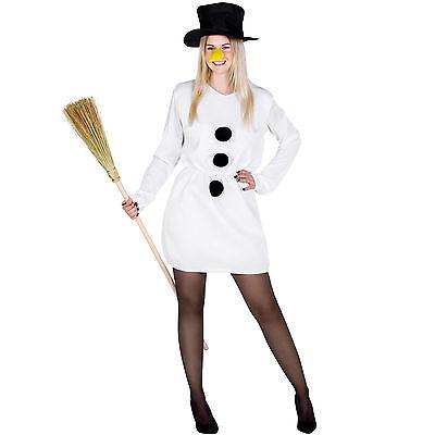 ostüm Karneval Fasching Halloween Damen Weihnachten Kleid (Schnee Frau Halloween-kostüm)