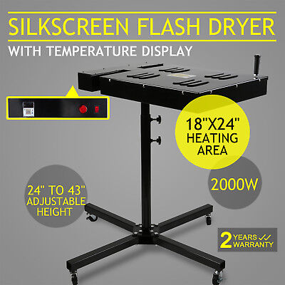 18x24 Flash Dryer Silkscreen Curing Screen Printing Adjustable Electrical Diy