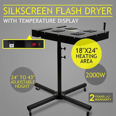 18x24 Flash Dryer Silkscreen Curing Screen Printing Adjustable Electrical Diy