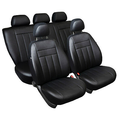 VW Passat B6 Maßgefertigte Autositzbezüge Sitzbezüge Kunstleder in Schwarz Passat Autositzbezüge