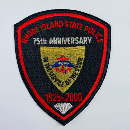 Rhode Island State Police 75th Anniversary 1925 2000 Patch