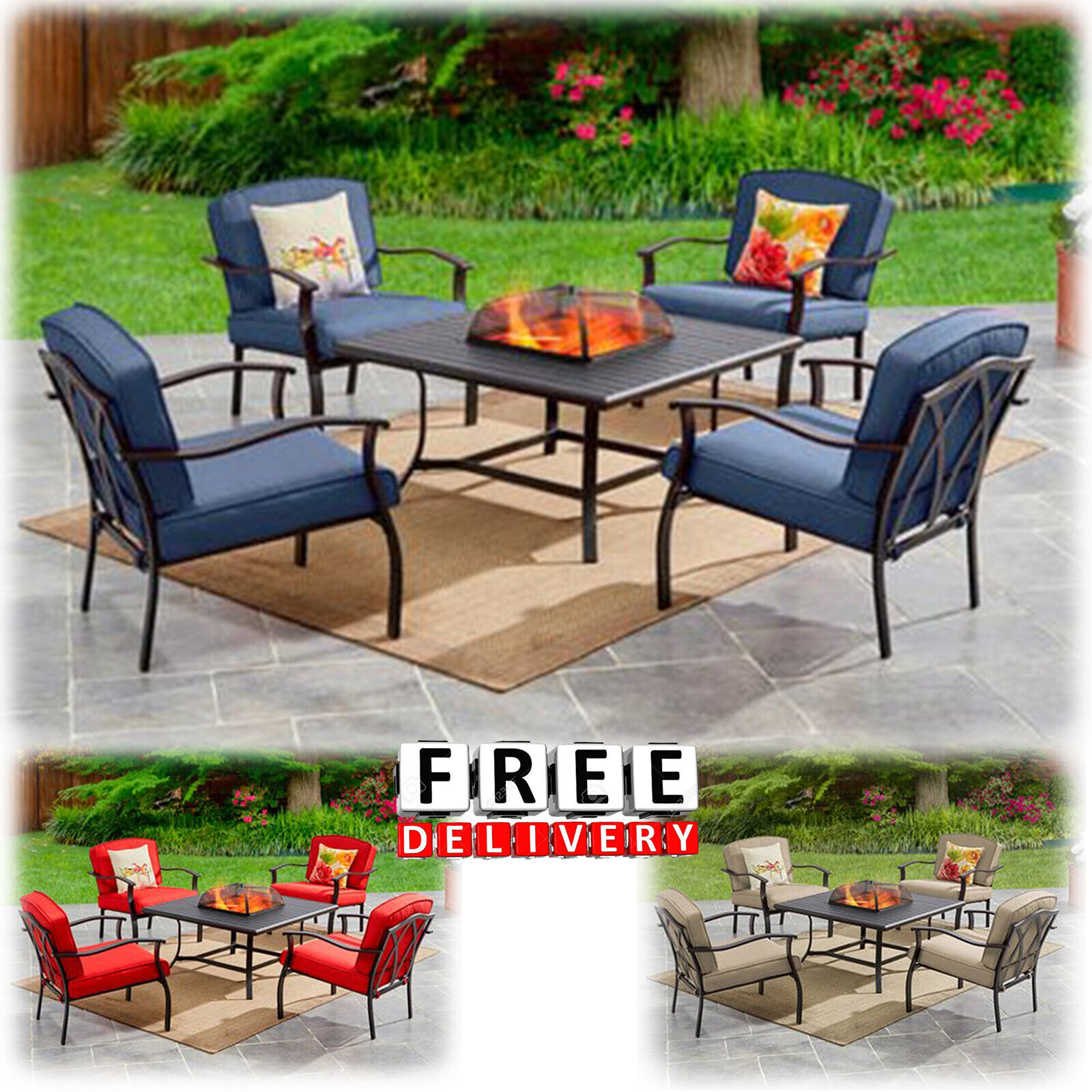 outdoor patio dining furniture set 5 piece