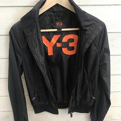 Y-3 Adidas Yohji Yamamoto Rain Jacket Small Black