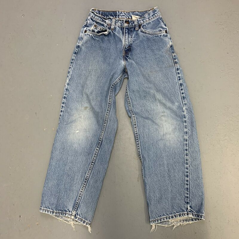 Vintage Levis Jeans Orange Tab Made USA 25.5 x 25.5 572 Baggy Fit Womens Fade