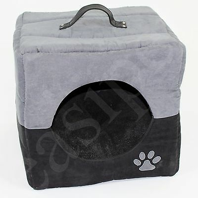 Cat Kitten Pet Cube Bed Igloo Box House Cave Dog Puppy Sleeping Cozy Easipet