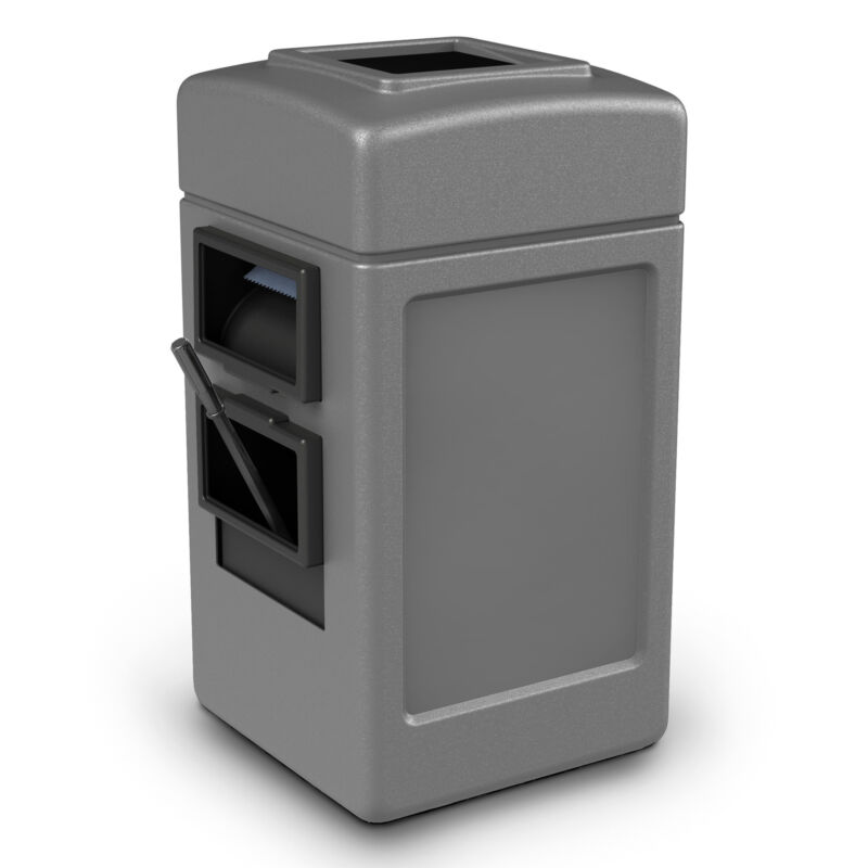Commercial Zone 755103 Harbor 1 Waste/Windshield Service Container Center, Gray