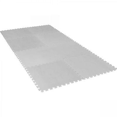 Grau Schutzmatten Set 8 Matten Bodenschutz Puzzlematte Unterlegmatten Fitness