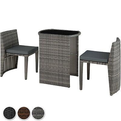 Rattan Set Bistro Garden 3 PCs Furniture Group Table Chairs Balcony Dining Patio - Patio Bistro-set