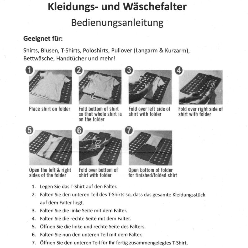 2er Set Faltbrett Blau | Wäschefalter Kunststoff | Wäschefaltbrett Hemdenfalter