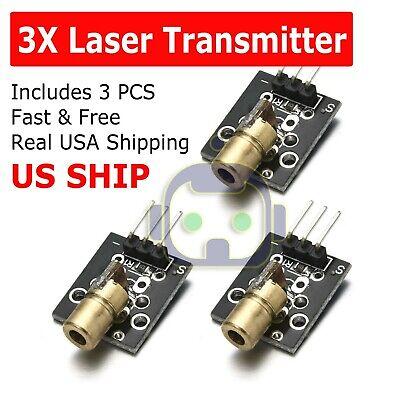 3pcs Ky-008 3pin 650nm 5v Laser Transmitter Sensor Module For Arduino Avr Pic Fs
