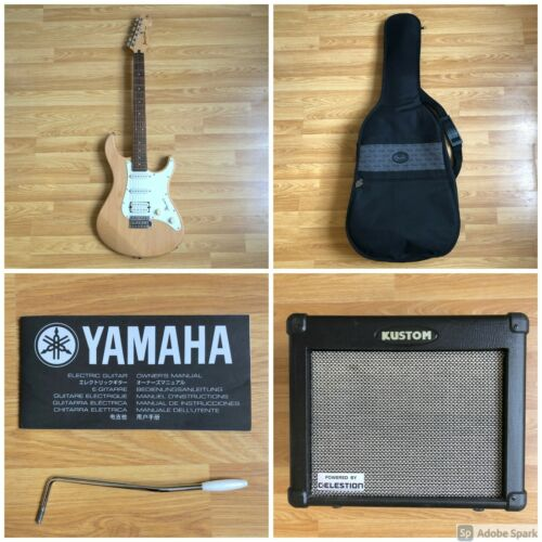 YAMAHA Pacifica 112J Yellow Natural Satin Electric Guitar + KUSTOM Solo 16 DFX
