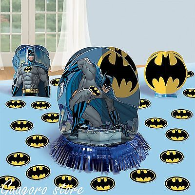 BATMAN Table Decoration Kit 23pcs Centerpiece + Confetti Birthday party Supplies - Batman Centerpieces