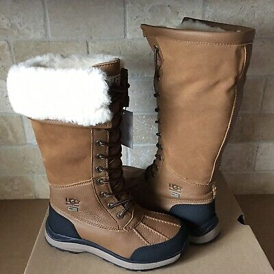 UGG Adirondack III Chestnut Waterproof Leather Tall Snow Boots Size 9 Womens for sale  Oxnard