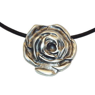LUNAMOR Anhänger Blume Rose Halskette silber Trachten Schmuck Antik nickelfrei