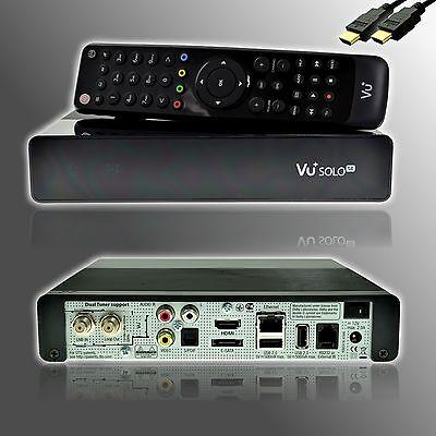 VU+ Plus Solo SE V2 Full HD DVB-S2 Single SAT + HDMI Kabel + schwarz