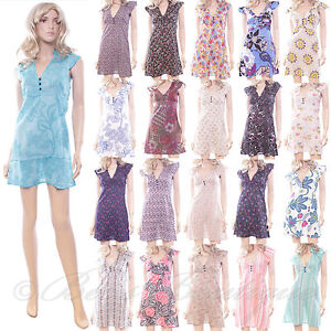 New-Cotton-Summer-Dress-Ladies-Various-Styles-Size-8-10-12-14-16-New-Pretty