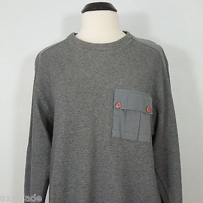 Denim Ribbed Sweatshirt (ARIZONA Jean Company Men's Ribbed Gray Sweatshirt size L )